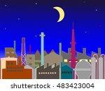 scenery of the night industrial ...   Shutterstock .eps vector #483423004