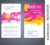 abstract vector brochure... | Shutterstock .eps vector #483425509