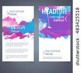 abstract vector brochure... | Shutterstock .eps vector #483425518