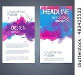 abstract vector brochure... | Shutterstock .eps vector #483425533