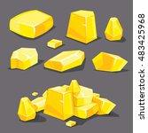 set of different golden...