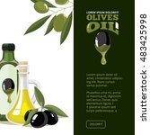 illustration of olives  tree ... | Shutterstock . vector #483425998