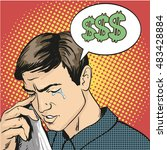 man in stress and crying.... | Shutterstock .eps vector #483428884