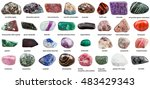 various tumbled ornamental... | Shutterstock . vector #483429343