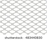 victorian tiling.black and... | Shutterstock .eps vector #483440830