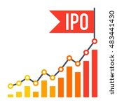 ipo concept with line chart and ... | Shutterstock .eps vector #483441430