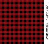 lumberjack seamless pattern | Shutterstock .eps vector #483443164