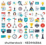 business icons | Shutterstock .eps vector #483446866