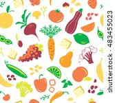 vector seamless pattern with... | Shutterstock .eps vector #483455023