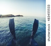 freediver legs | Shutterstock . vector #483455533