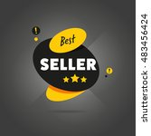 best seller badge flat abstract ... | Shutterstock . vector #483456424