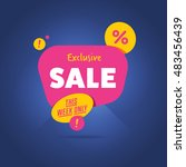 exclusive sale advertising... | Shutterstock . vector #483456439
