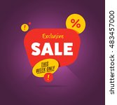 exclusive sale advertising... | Shutterstock . vector #483457000