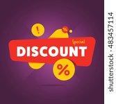 special discount advertisement... | Shutterstock . vector #483457114
