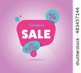 exclusive sale advertising... | Shutterstock . vector #483457144