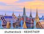 grand palace and wat phra keaw... | Shutterstock . vector #483457609
