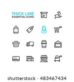 shopping and delivery symbols   ... | Shutterstock .eps vector #483467434