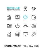 business  finance symbols   set ... | Shutterstock .eps vector #483467458