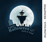 happy halloween trick or treat... | Shutterstock . vector #483469900
