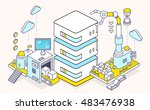 vector illustration of server... | Shutterstock .eps vector #483476938