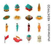 china isometric touristic set... | Shutterstock .eps vector #483479920