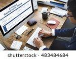 criminal background check... | Shutterstock . vector #483484684