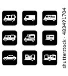 set of black isolated icons... | Shutterstock . vector #483491704