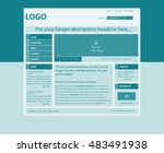 responsive web layout template... | Shutterstock .eps vector #483491938