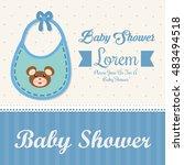 baby bib icon. baby shower... | Shutterstock .eps vector #483494518