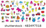 set patch badges. hand drawn... | Shutterstock .eps vector #483497518