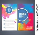 brochure template layout  cover ... | Shutterstock .eps vector #483500869