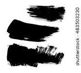 set of ink brush stroke vector... | Shutterstock .eps vector #483503230