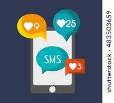 mobile phone messaging image  | Shutterstock .eps vector #483503659