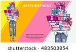 bright happy birthday... | Shutterstock .eps vector #483503854