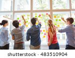 young students at brainstorming ... | Shutterstock . vector #483510904