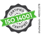 iso 14001 certification | Shutterstock .eps vector #483511378
