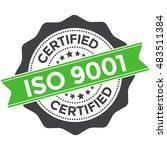iso 9001 certified | Shutterstock .eps vector #483511384