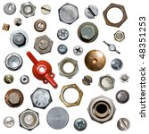 Screws And Nuts. Isolated
