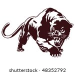 Panther. Tribal Vector...