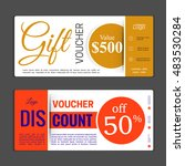 gift voucher template. can be... | Shutterstock .eps vector #483530284