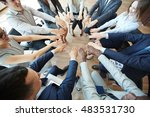feel your colleague at training | Shutterstock . vector #483531730