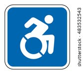 blue square handicapped sign... | Shutterstock .eps vector #483532543