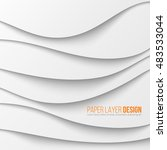 abstract white waved paper... | Shutterstock .eps vector #483533044