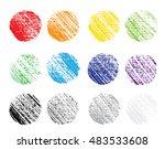 collection of pencil linen... | Shutterstock .eps vector #483533608
