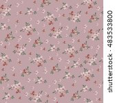 seamless vintage flower pattern  | Shutterstock .eps vector #483533800