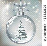 vector realistic transparent... | Shutterstock .eps vector #483533803