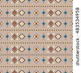 ethnic seamless pattern | Shutterstock .eps vector #483534958
