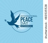 international day of peace... | Shutterstock .eps vector #483535528