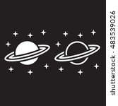 astronomy line icon  saturn... | Shutterstock .eps vector #483539026