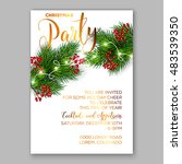 christmas party invitation with ... | Shutterstock .eps vector #483539350